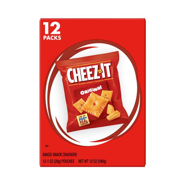 Cheez-It Original Baked Snack Crackers 12-1 oz Pouches