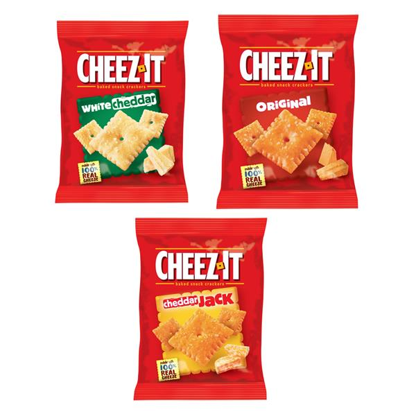 Cheez-It Baked Snack Crackers Variety Pack 12-1 oz Pouches