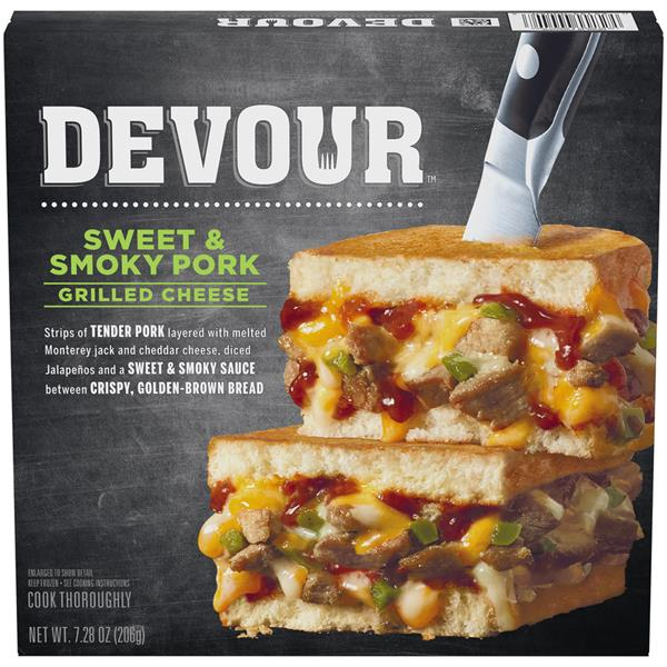 Devour Sweet & Smoky Pork Grilled Cheese