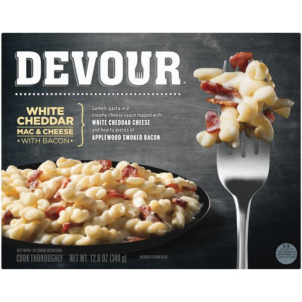 Devour White Cheddar Mac & Cheese with Bacon