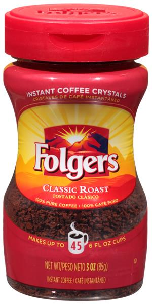Folgers Instant Coffee Crystals Classic Roast | Hy-Vee ...