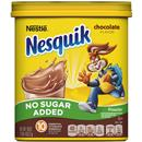 Nestle Nesquik No Sugar Added Chocolate Flavored Powder Drink Mix