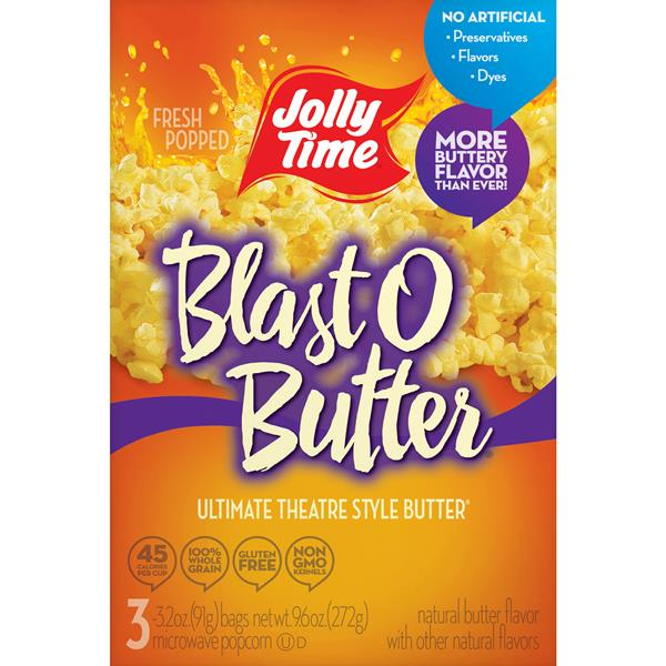 Jolly Time Blast O Butter Ultimate Theatre Style, 3-3.2 oz Bags