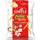 Cheetos Simply Cheese Flavored Snacks Crunchy White Cheddar
