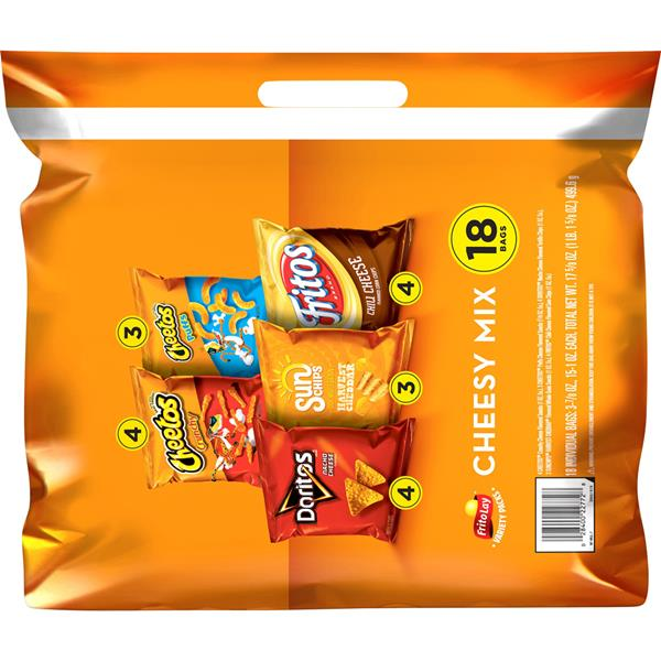 Frito Lay Cheesy Mix Variety Pack (15-1O oz, 3-.875 oz) 18Ct