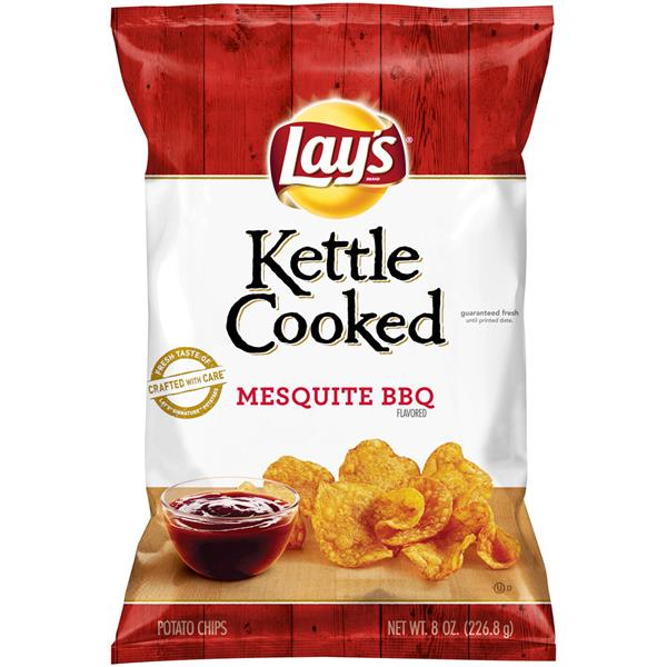 Kettle Potato Chips ~ Lay s kettle cooked mesquite bbq potato chips oz bag