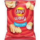 Lay's Wavy Original Potato Chips Party Size