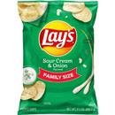 Lay's Sour Cream & Onion Flavored Potato Chips Family Size