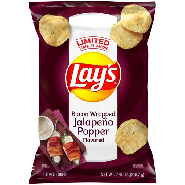 Lay's Bacon Wrapped Jalapeno Popper Potato Chips