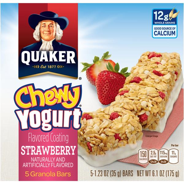 Quaker Chewy Yogurt Strawberry Granola Bars 5Ct