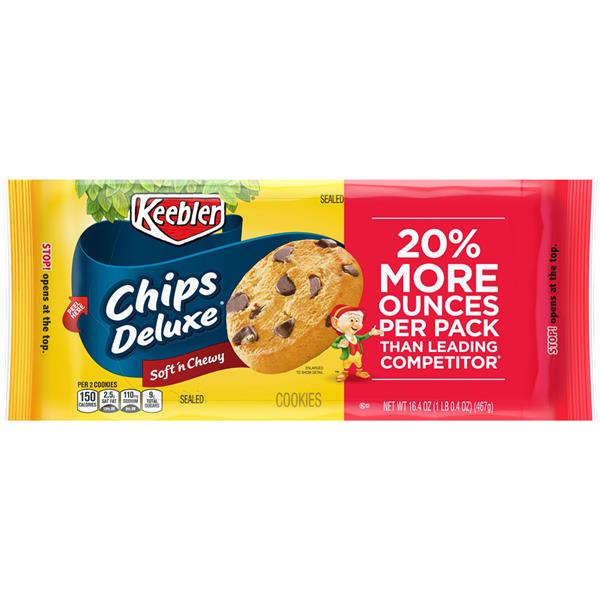 Keebler Chips Deluxe Soft 'n Chewy Cookies