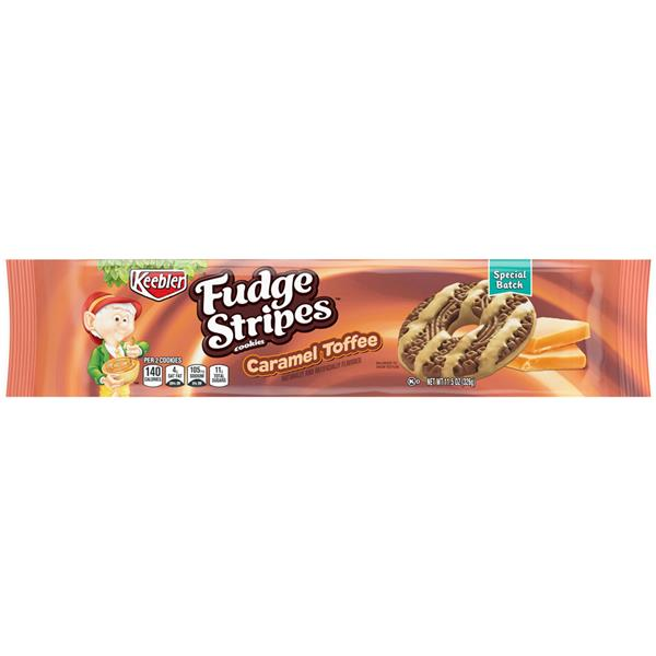 Keebler Fudge Shoppe Cookies Fudge Stripes Caramel Toffee