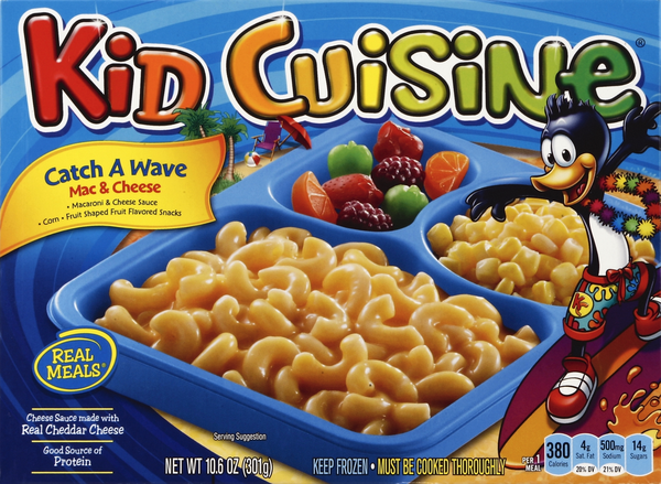 Kid Cuisine Catch A Wave Mac & Cheese Frozen Dinner