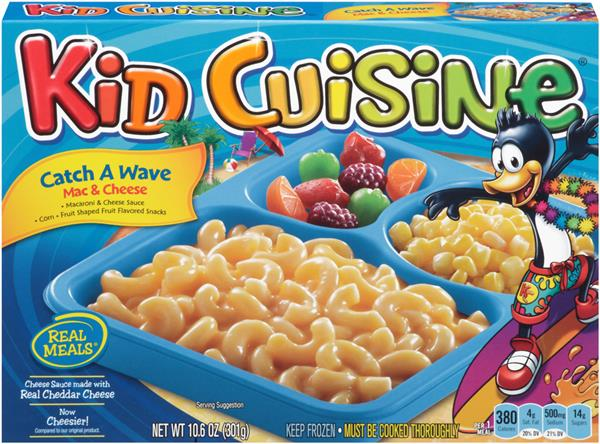 Kid cuisine catch a wave mac cheese frozen dinner hy for Are kid cuisine meals healthy