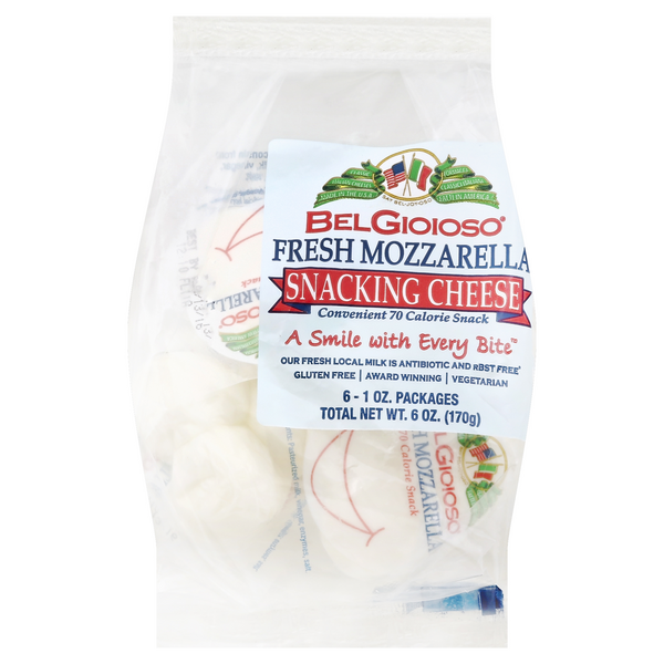 BelGioioso Fresh Mozzarella Snacking Cheese 6-1 oz