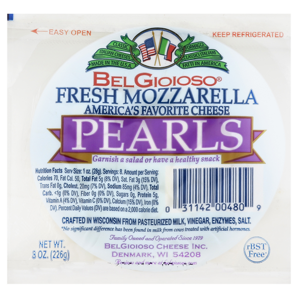 BelGioioso Pearls Fresh Mozzarella Cheese