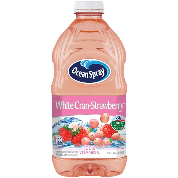 Ocean Spray White Cran-Strawberry Juice Drink 64 fl. oz. Bottle