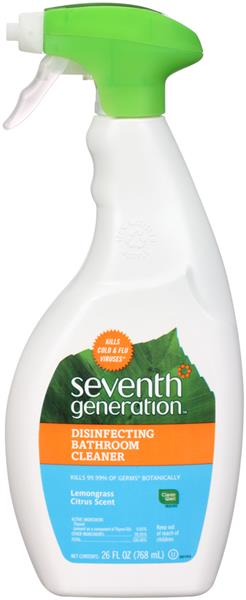 Seventh Generation Lemongrass Citrus Scent Disinfecting Bathroom Cleaner 26 fl. oz. Bottle