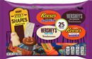 Hershey's Halloween Spooky Shapes Snack Size Candy Assortment, 25 Pieces