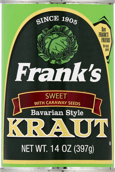 Frank's Sweet Bavarian Style Kraut with Caraway Seeds