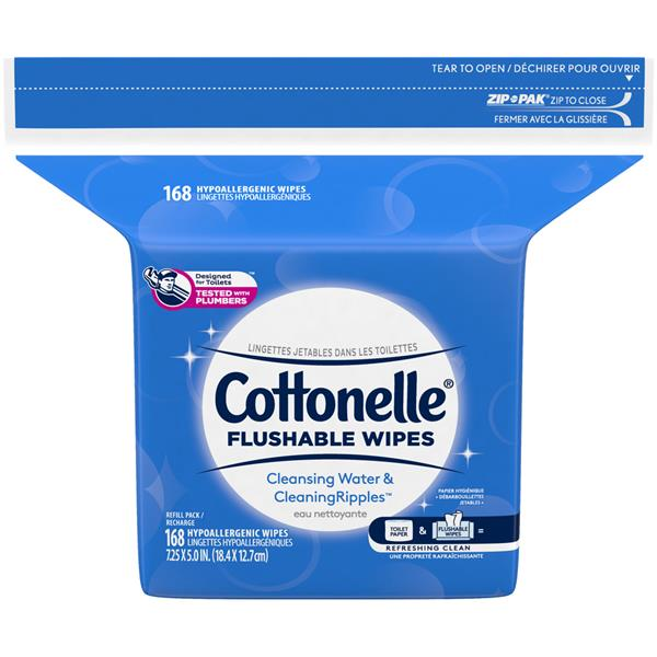 Kleenex Cottonelle Flushable Cleansing Cloths Fresh Care 4 Pack