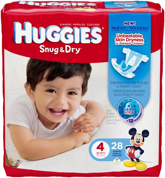 Huggies Snug & Dry Sure Fit Size 4 Diapers | Hy-Vee Aisles Online ...
