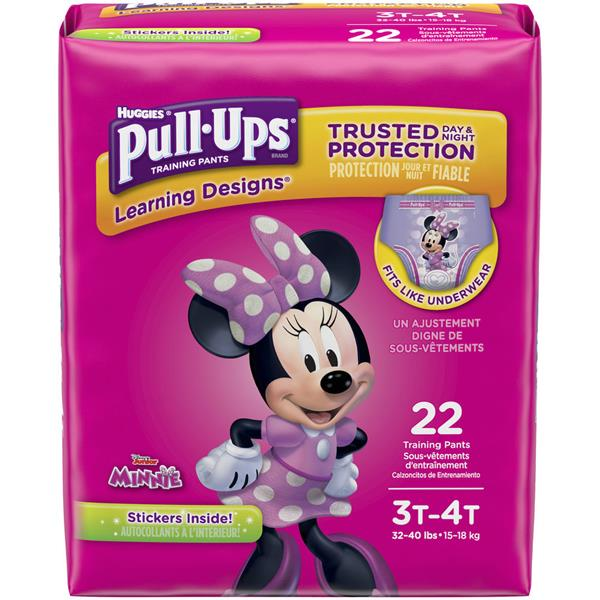 Huggies Pull-Ups Training Pants Jumbo Girls 3T-4T