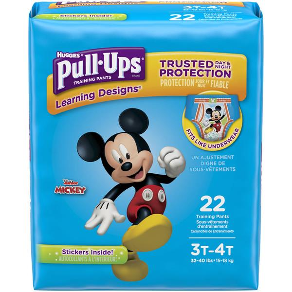 Huggies Jumbo Pull-Ups Learning Designs Training Pants Boy 3T-4T