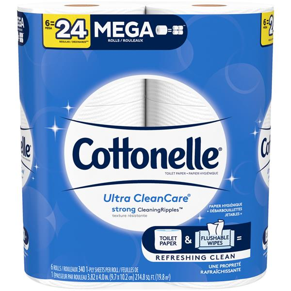 Cottonelle Clean Care Mega Rolls