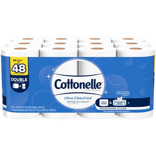 Cottonelle Ultra Clean Care Double Roll