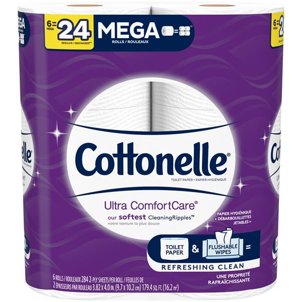 Cottonelle Ultra ComfortCare Toilet Paper Soft Bath Tissue