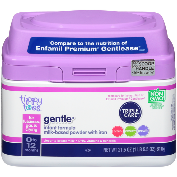 Tippy Toes Gentle Milk-Based Powder Infant Formula with Iron  0-12 months