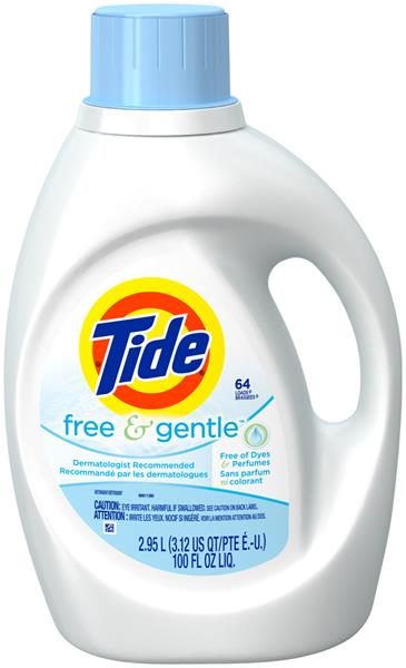 Tide Free Amp Gentle Liquid Laundry Detergent 64 Load Hy