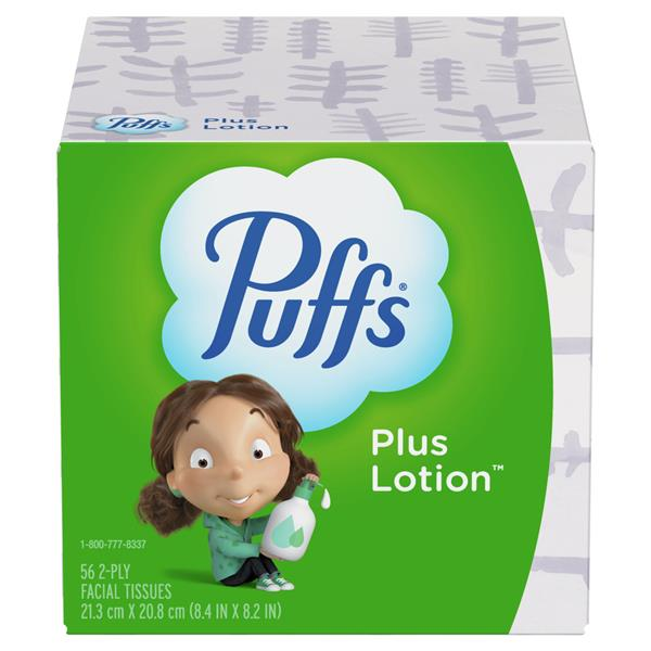 Plus Puffs Plus Lotion Facial Tissues Upright