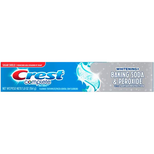 Crest Complete Multi Benefit Whitening Baking Soda Peroxide With Tartar Protection Fluoride Toothpaste