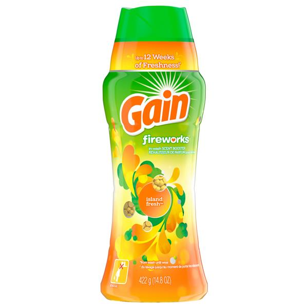 Gain Fireworks In-Wash Scent Booster, Island Fresh