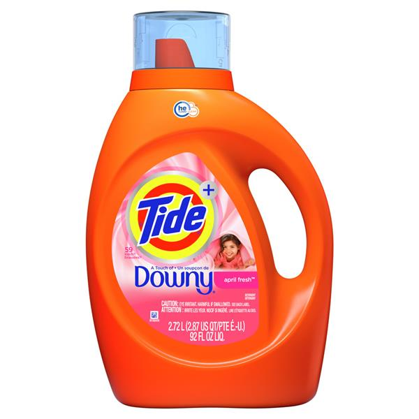Tide Plus A Touch Of Downy High Efficiency Liquid Laundry Detergent - April Fresh - 48 Loads