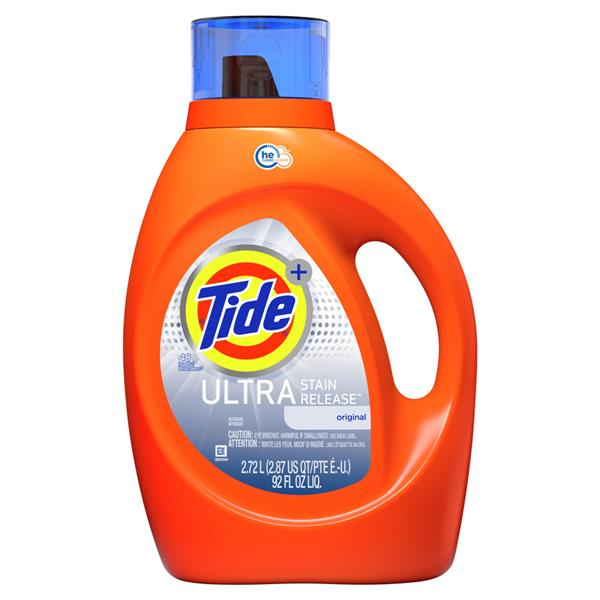 Tide Plus HE Turbo Clean Ultra Stain Release Liquid Laundry Detergent, 48-load