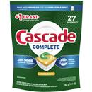 Cascade Complete ActionPacs, Dishwasher Detergent, Lemon Scent, 27Ct