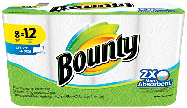 Add a little magic to the mess with the help of this Bounty Select-A-Size White Paper Towels. Space-efficient design to fit under any standard dufucomekiguki.ga: $
