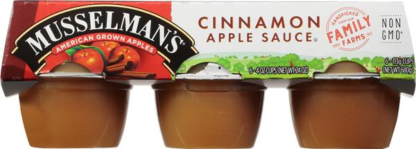 Musselman's Cinnamon Apple Sauce 6-4 oz Cups