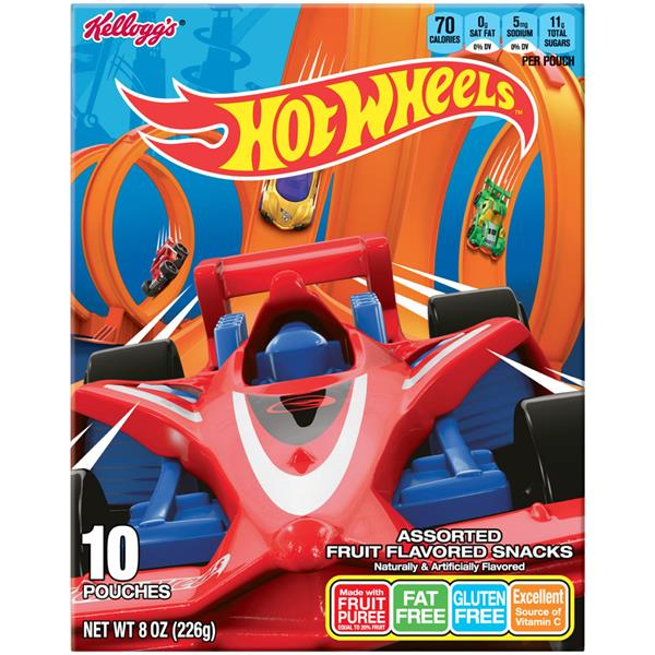 Kellogg's Hot Wheels Assorted Fruit Flavored Snacks 10Ct