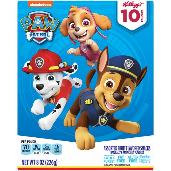 Kellogg's Paw Patrol Assorted Fruit Flavored Snacks 10Ct