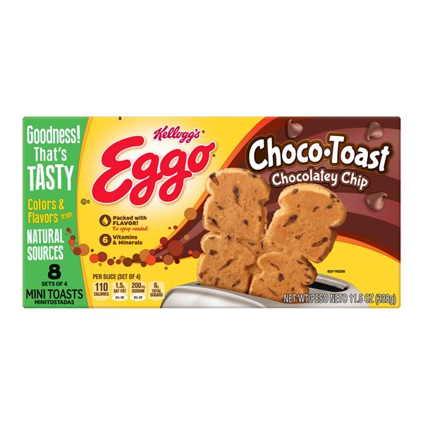 Kellogg's Eggo ChocoToast Chocolatey Chip Frozen Waffles 8Ct
