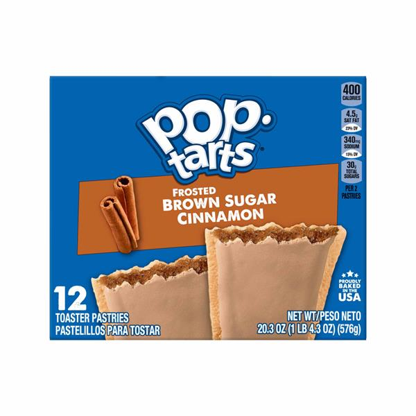 Kellogg's Pop-Tarts Frosted Brown Sugar Cinnamon 12Ct