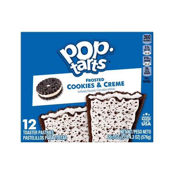 Kellogg's Pop-Tarts Frosted Cookies & Creme 12Ct