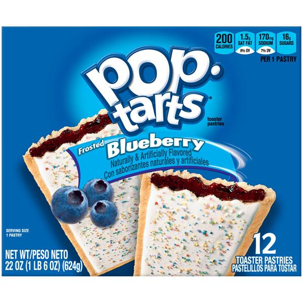 Kellogg's Pop-Tarts Frosted Blueberry Toaster Pastries 12Ct