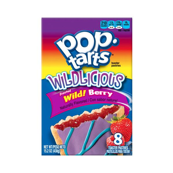 Kellogg's Pop-Tarts Wildlicious Frosted Wild! Berry Toaster Pastries 8Ct
