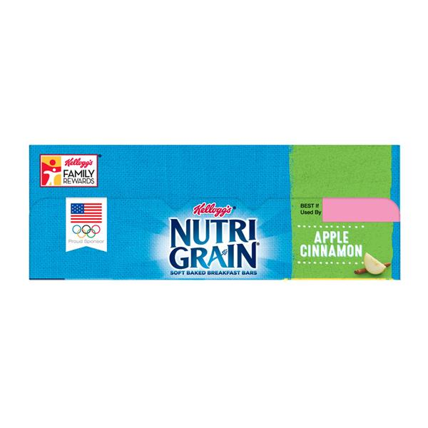 Kellogg's Nutri Grain Soft Baked Apple Cinnamon Breakfast Bars Value Pack 16-1.3 oz Bars
