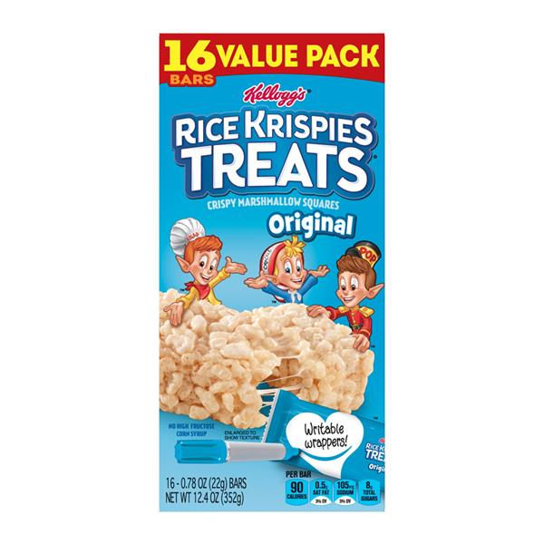 Kellogg's Rice Krispies Treats Original Crispy Marshmallow Squares Value Pack 16-0.78 oz Bars